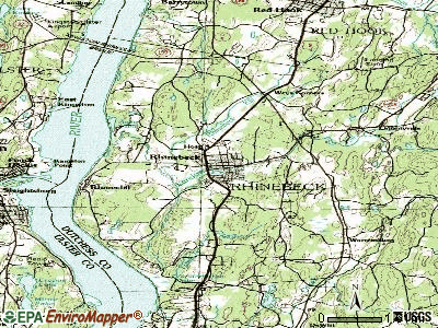 Rhinebeck topographic map