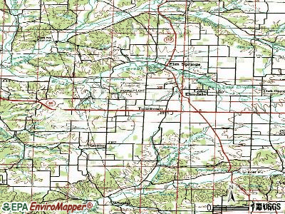 Tontitown topographic map
