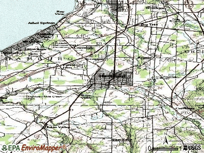Hamburg topographic map