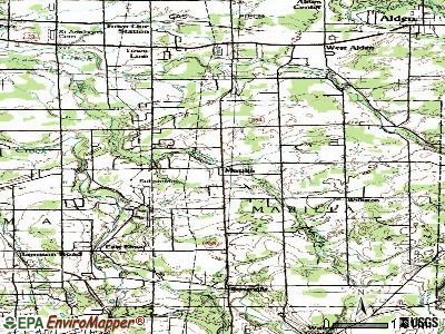 Marilla topographic map