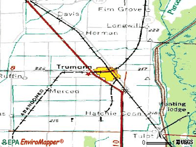 Trumann topographic map