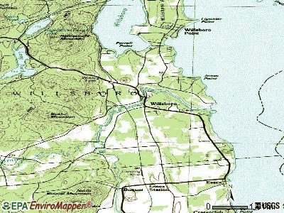 Willsboro topographic map