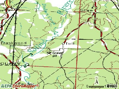 Tull topographic map