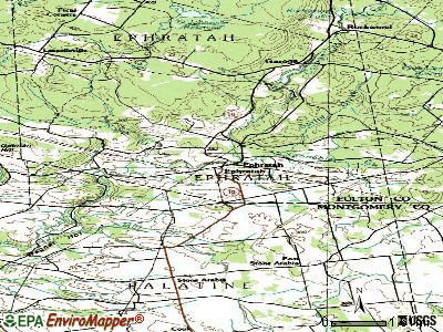 Ephratah topographic map