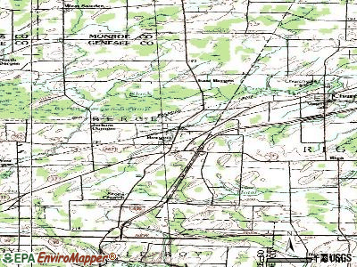 Bergen topographic map