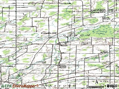 Byron topographic map