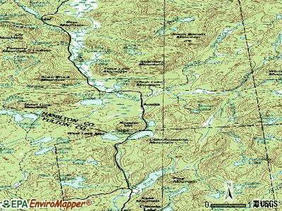 Arietta topographic map