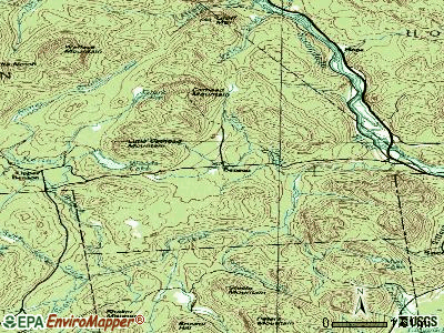 Benson topographic map