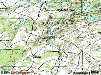 Theresa topographic map
