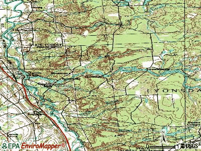 Lyonsdale topographic map