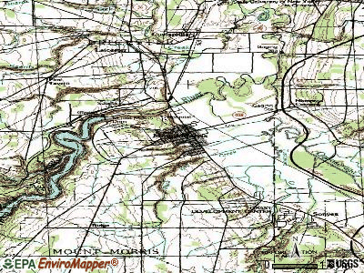 Mount Morris topographic map