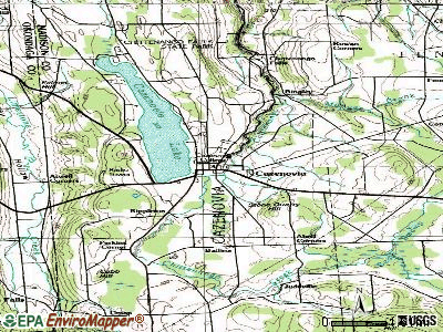 Cazenovia topographic map