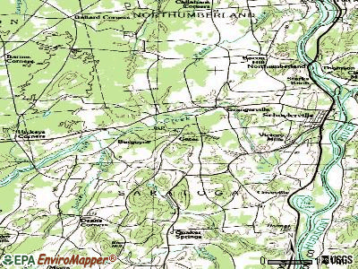 Gates topographic map