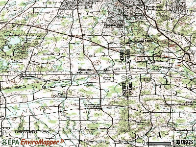 Mendon topographic map