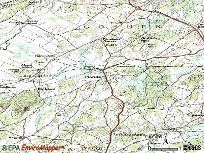 Glen topographic map
