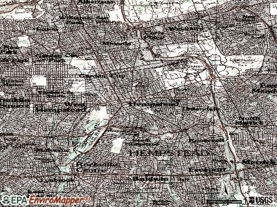 Hempstead topographic map