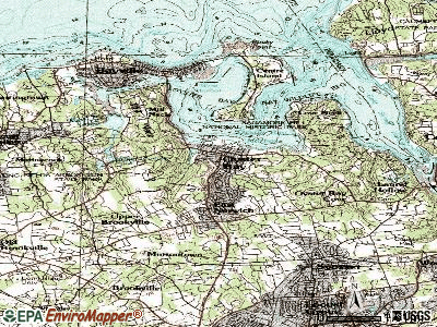 Oyster Bay topographic map