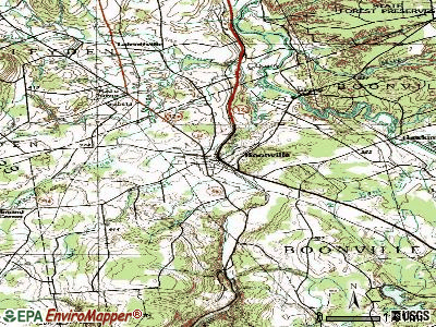 Boonville topographic map