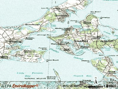 Westmoreland topographic map