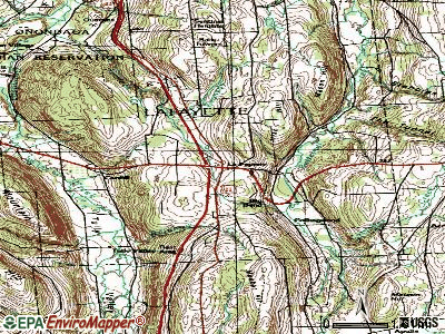 LaFayette topographic map