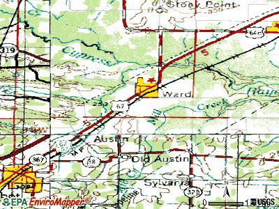 Ward topographic map