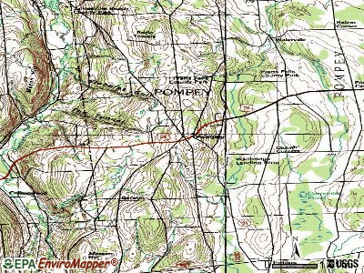 Pompey topographic map