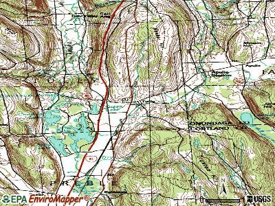 Tully topographic map