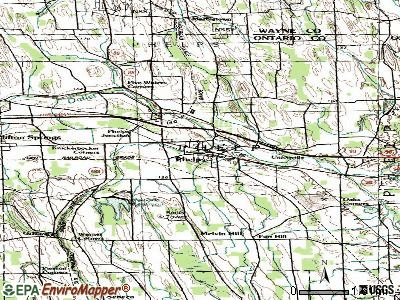 Phelps topographic map