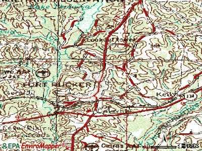 Fort Rucker topographic map