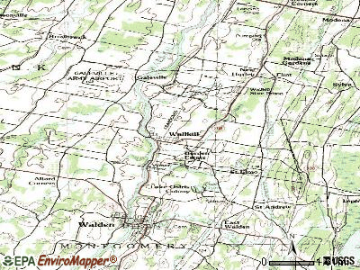 Wallkill topographic map