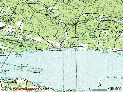 Constantia topographic map