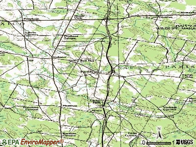 Parish topographic map