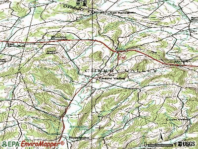 Cherry Valley topographic map