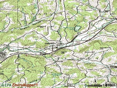 Unadilla topographic map
