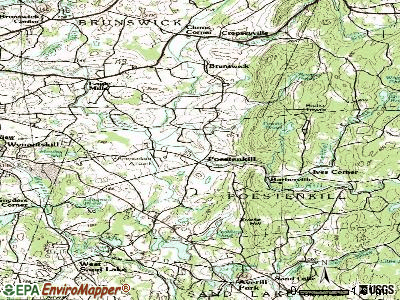 Poestenkill topographic map