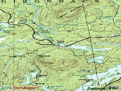 Piercefield topographic map
