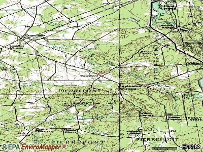 Pierrepont topographic map