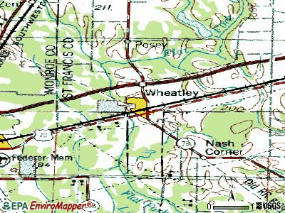 Wheatley topographic map