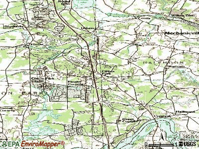 Clifton Park topographic map