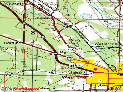 White Hall topographic map