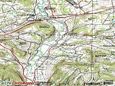 Schoharie topographic map