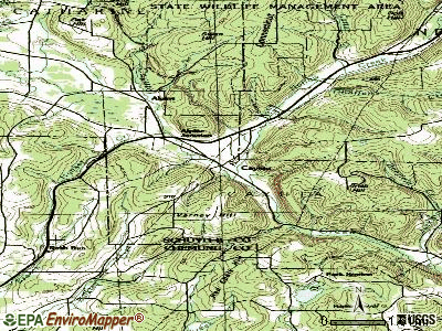 Cayuta topographic map