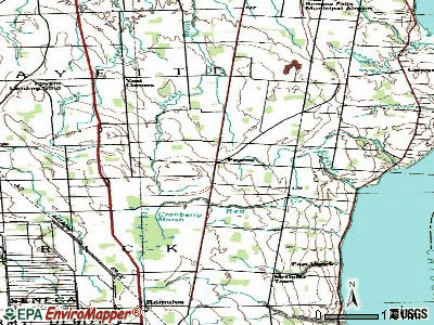 Fayette topographic map
