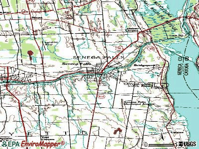 Seneca Falls topographic map
