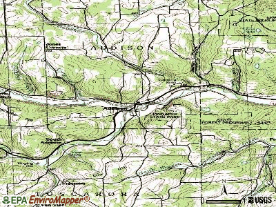 Addison topographic map