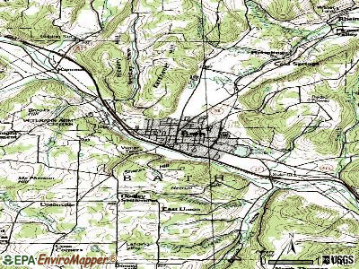 Bath topographic map