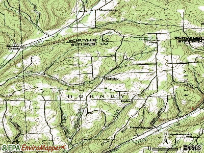 Hornby topographic map