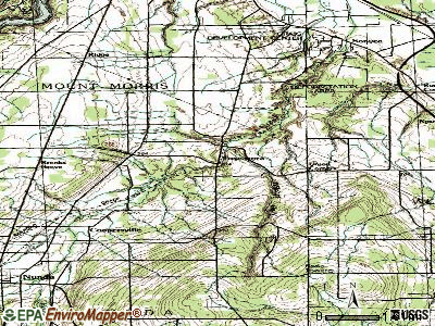 Tuscarora topographic map
