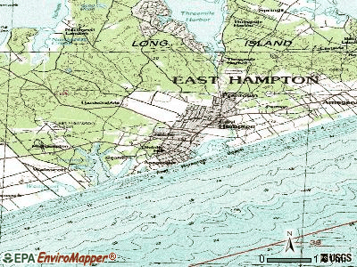 East Hampton topographic map
