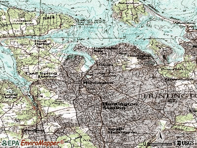 Huntington topographic map